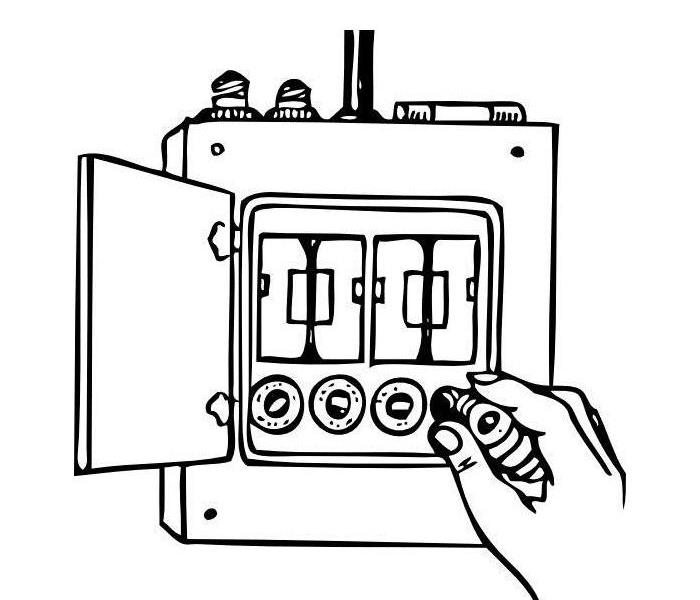 Clip art of Fuse Box