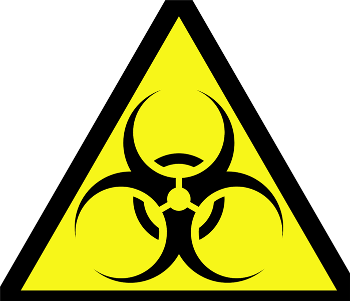 yellow bio hazard sign